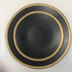 Rental store for Heirloom Black with Gold Band China in Raleigh NC
